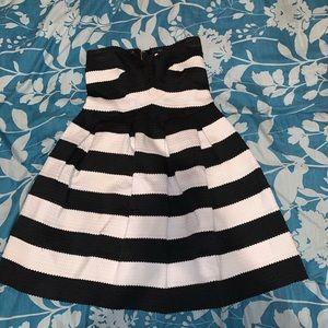 Strapless ruffled dress